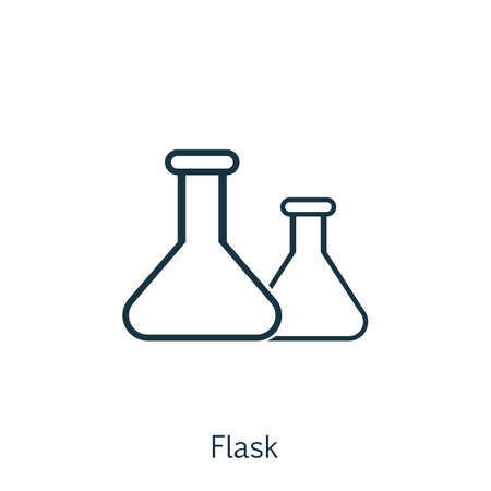 Vector Illustration Of Education Icon On Flask In Trendy Flat Style. Education Isolated Icon For Web, Mobile And Infographics Design, EPS10.