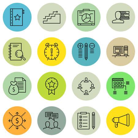 task list: Set Of Project Management Icons On Deadline, Task List, Best Solution And More. Premium Quality EPS10 Vector Illustration For Mobile, App, UI Design.