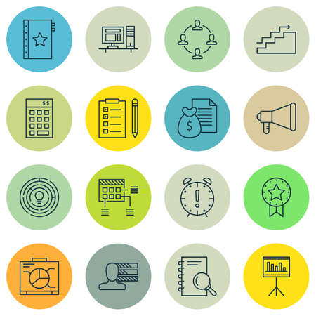 personality development: Set Of Project Management Icons On Statistics, Personality, Award And More. Premium Quality EPS10 Vector Illustration For Mobile, App, UI Design.