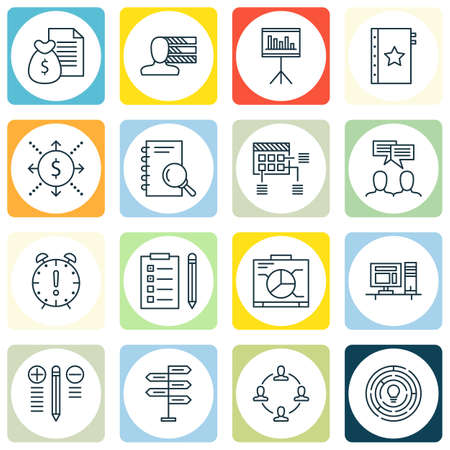 統計プロジェクト管理アイコンのセットは、作る、計画などを決定します。プレミアム品質 EPS10 ベクトル イラスト携帯アプリは、UI 設計のため。