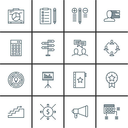 personality development: Set Of Project Management Icons On Planning, Statistics, Investment And More. Premium Quality EPS10 Vector Illustration For Mobile, App, UI Design.