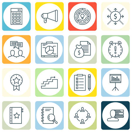 personality development: Set Of Project Management Icons On Personality, Creativity, Investment And More. Premium Quality EPS10 Vector Illustration For Mobile, App, UI Design.