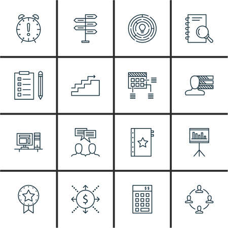 task list: Set Of Project Management Icons On Planning, Task List, Research And More. Premium Quality EPS10 Vector Illustration For Mobile, App, UI Design. Illustration