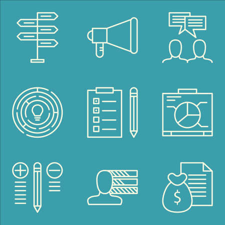 task list: Set Of Project Management Icons On Creativity, Personality, Task List And More. Premium Quality EPS10 Vector Illustration For Mobile, App, UI Design.