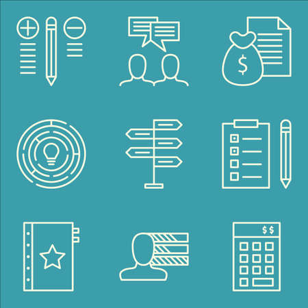 task list: Set Of Project Management Icons On Task List, Quality Management, Team Meeting And More. Premium Quality EPS10 Vector Illustration For Mobile, App, UI Design.