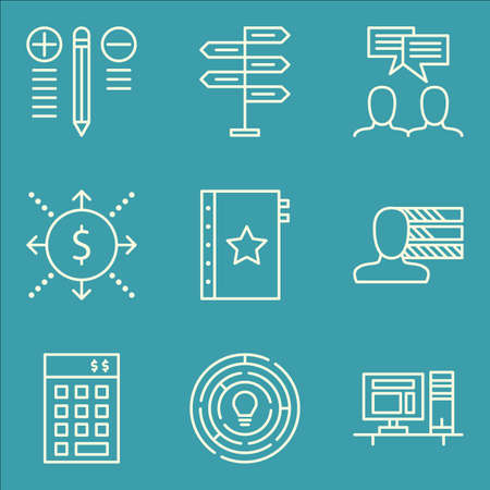 Set Of Project Management Icons On Quality Management, Personality, Decision Making And More. Premium Quality EPS10 Vector Illustration For Mobile, App, UI Design.