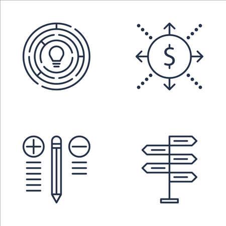 cash flows: Set Of Project Management Icons On Creativity, Cash Flow, Decision Making And More. Premium Quality EPS10 Vector Illustration For Mobile, App, UI Design.