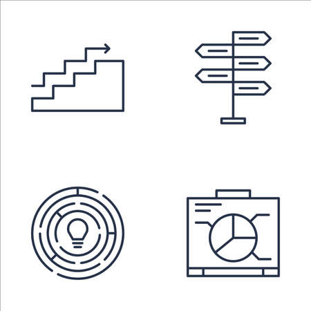 Set Of Project Management Icons On Decision Making, Charts, Graph
