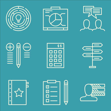 personality development: Set Of Project Management Icons On Creativity, Investment, Personality And More. Premium Quality EPS10 Vector Illustration For Mobile, App, UI Design.