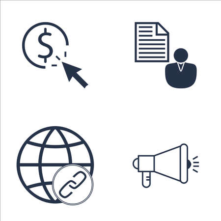 link building: Set Of SEO, Marketing And Advertising Icons On Viral Marketing, Link Building, Pay Per Click And More. Premium Quality EPS10 Vector Illustration For Mobile, App, UI Design.