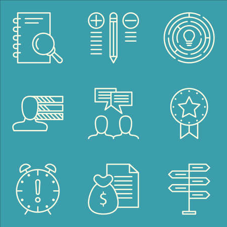 Set Of Project Management Icons On Research Team Meeting Best Royalty Free Cliparts Vectors And Stock Illustration Image 63658050