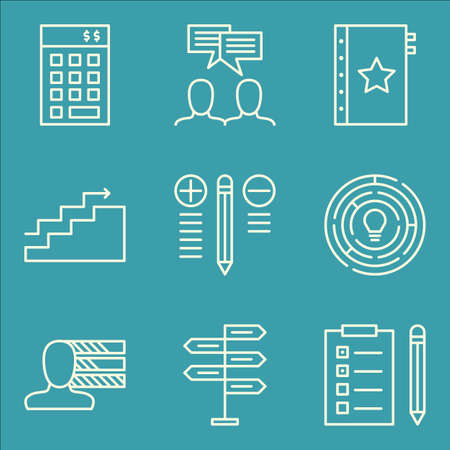 task list: Set Of Project Management Icons On Creativity, Task List, Investment And More. Premium Quality EPS10 Vector Illustration For Mobile, App, UI Design.