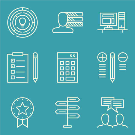 task list: Set Of Project Management Icons On Personality, Investment, Task List And More. Premium Quality EPS10 Vector Illustration For Mobile, App, UI Design.