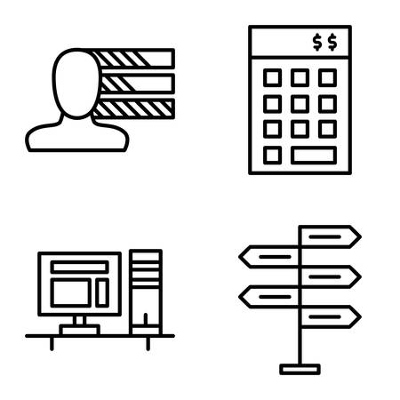 personality development: Set Of Project Management Icons On Decision Making, Personality And Investment. Project Management Vector Icons For App, Web, Mobile And Infographics Design.