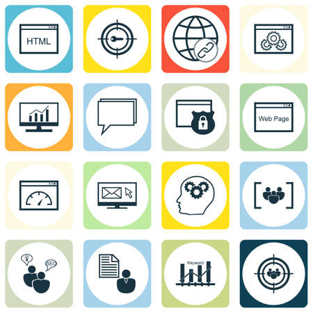 idea icon: Set Of SEO, Marketing And Advertising Icons On Coding, Loading Speed, SEO Brainstorm And More. Includes Brain Process, Conference, Connectivity And Other Vector Icons.
