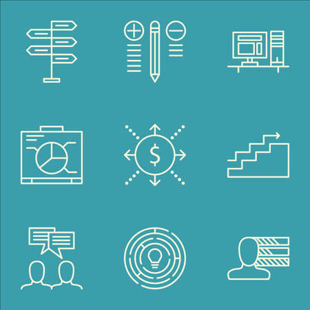 more money: Set Of Project Management Icons On Money, Growth, Opportunity And More. Includes Money, Computer, Growth And Other Vector Icons.