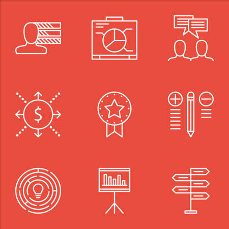 more money: Set Of Project Management Icons On Discussion, Innovation, Opportunity And More. Includes Money, Presentation, Innovation And Other Vector Icons.