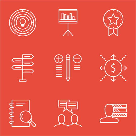 more money: Set Of Project Management Icons On Presentation, Analysis, Money And More. Includes Presentation, Money, Innovation And Other Vector Icons.