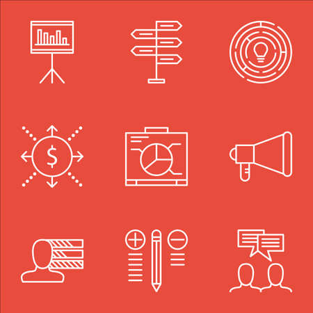 personal decisions: Set Of Project Management Icons On Opportunity, Board, Presentation And More. Includes Money, Presentation, Discussion And Other Vector Icons.