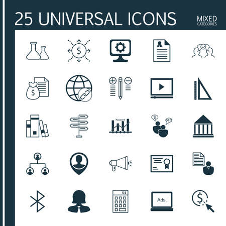 decision tree: Set Of 25 Universal Icons On Digital Media, Cooperation, Report And More Topics. Vector Icon Set Including Tree Structure, Decision Making, Digital Media And Other Icons.