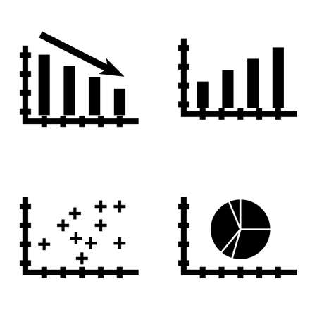 Set Of Statistics Icons On Plotter Point Chart Bar Chart Pie