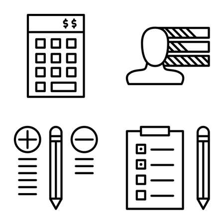 task list: Set Of Project Management Icons On Personality, Best Solution And Task List. Project Management Vector Icons For App, Web, Mobile And Infographics Design. Illustration