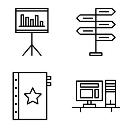 decision making: Set Of Project Management Icons On Decision Making, Quality Management And Statistics. Project Management Vector Icons For App, Web, Mobile And Infographics Design.