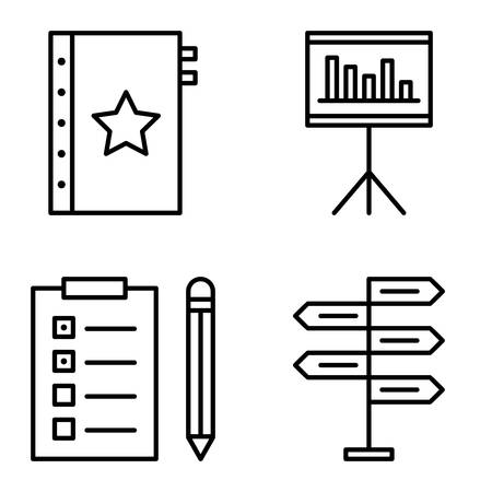 decision making: Set Of Project Management Icons On Decision Making, Task List And Quality Management. Project Management Vector Icons For App, Web, Mobile And Infographics Design.