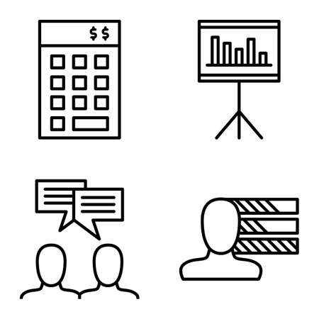 personality development: Set Of Project Management Icons On Personality, Idea Brainstorming And Investment. Project Management Vector Icons For App, Web, Mobile And Infographics Design.