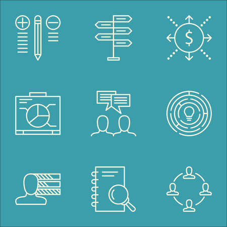 more money: Set Of Project Management Icons On Opportunity, Money, Board And More.