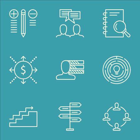 personal decisions: Set Of Project Management Icons On Analysis, Money, Opportunity And More. Includes Personal Skills, Innovation, Growth And Other Vector Icons.