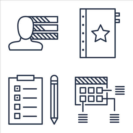 personality: Set Of Project Management Icons On Quality Management, Personality, Planning And More.