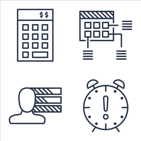 personality: Set Of Project Management Icons On Personality, Investment, Planning And More.