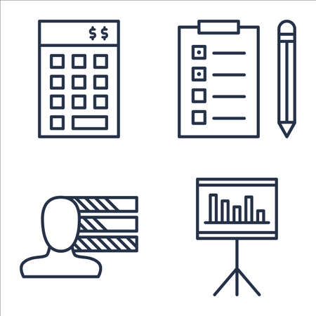 personality: Set Of Project Management Icons On Statistics, Personality, Investment And More.