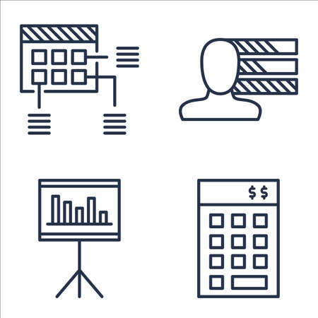 personality development: Set Of Project Management Icons On Statistics, Planning, Investment And More.