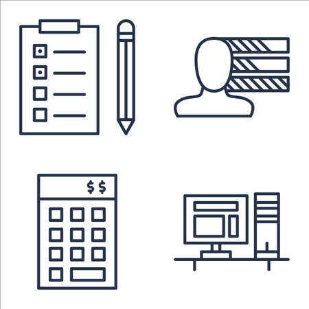 personality: Set Of Project Management Icons On Personality, Task List, Investment And More.