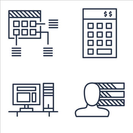 personality: Set Of Project Management Icons On Planning, Personality, Investment And More.