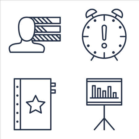 personality: Set Of Project Management Icons On Quality Management, Deadline, Personality And More