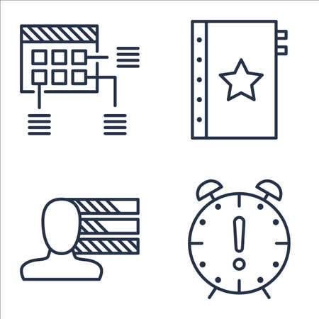 personality: Set Of Project Management Icons On Quality Management, Personality, Deadline And More. Illustration