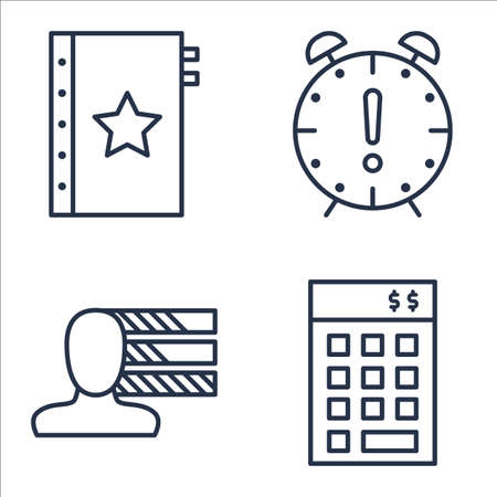 personality: Set Of Project Management Icons On Investment, Personality, Deadline And More.