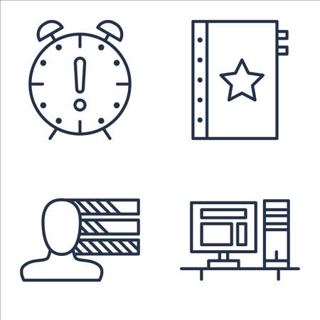 personality development: Set Of Project Management Icons On Personality, Quality Management, Deadline And More. Illustration