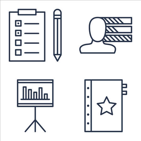 personality: Set Of Project Management Icons On Quality Management, Task List, Personality And More. Illustration