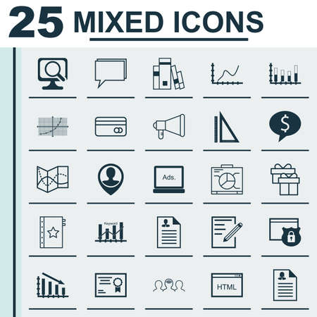 Set Of 25 Universal Icons On Coding Curriculum Vitae Security
