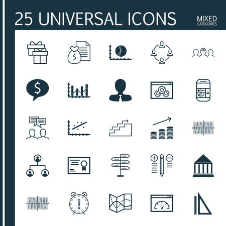 cosinus: Set Of 25 Universal Icons On Cosinus Diagram, Growth, Calculation And More Topics. Vector Icon Set Including Time Management, Collaboration, Manager And Other Icons.
