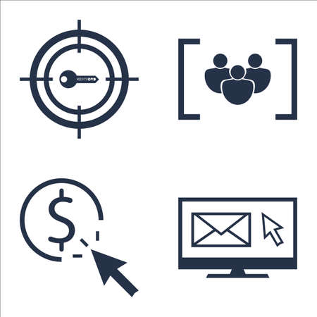 per: Set Of SEO, Marketing And Advertising Icons On EmAIl Marketing, Pay Per Click, Target Keywords And More.