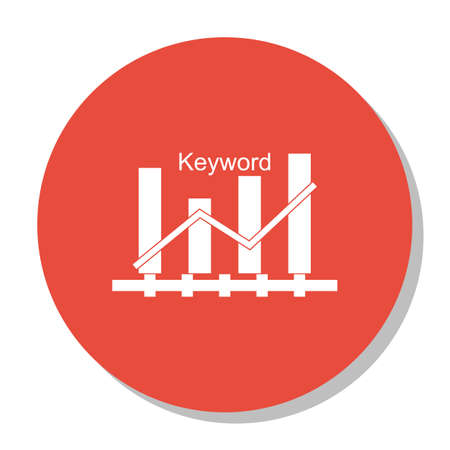 Vector Illustration Of SEO, Marketing And Advertising Icon On Keyword Ranking In Trendy Flat Style. SEO, Marketing And Advertising Isolated Icon For Web, Mobile And Infographics Design, EPS10.