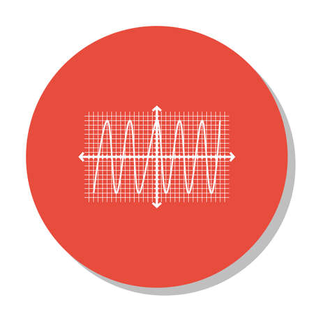 cosinus: Vector Illustration Of Statistics Icon On Cosinus Chart In Trendy Flat Style. Statistics Isolated Icon For Web, Mobile And Infographics Design, EPS10.