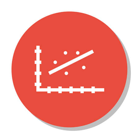 scatter: Vector Illustration Of Statistics Icon On Scatter Chart Graph In Trendy Flat Style. Statistics Isolated Icon For Web, Mobile And Infographics Design, EPS10.
