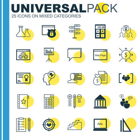 collaborative: Set Of 25 Universal Icons On Collaborative Solution, Presentation, Money And More Topics. Vector Icon Set Including Warranty, Collaborative Solution, Focus Group And Other Icons.