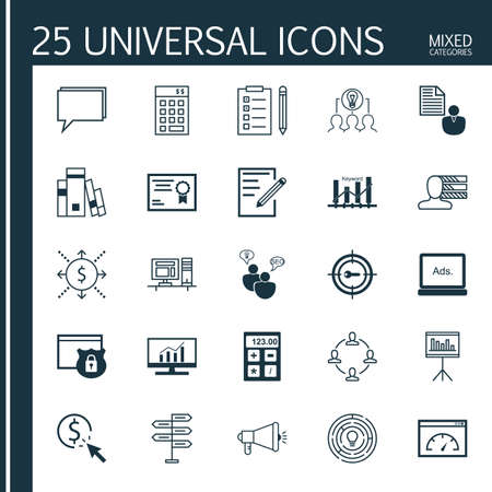 keyword: Set Of 25 Universal Icons On Innovation, Reminder, Keyword Optimisation And More Topics. Vector Icon Set Including Keyword Marketing, Investment, Innovation And Other Icons.